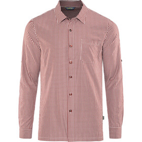 Meru Vallejo Camisa manga larga Hombre, burnt red